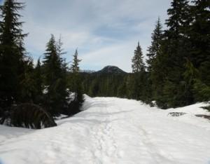 La route enneigée (photo E. JOYE)